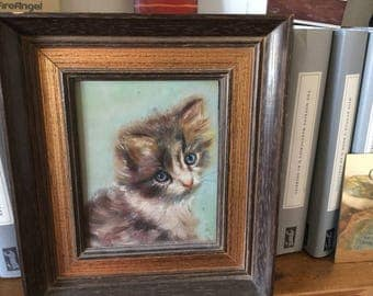 Original  Oil painting on wood, framed