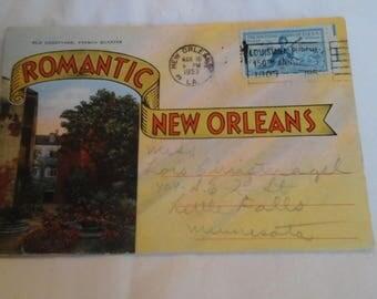 Vintage  New Orleans postcard  mailer