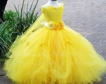 Princess Flower Girl Tutu Dress, Bridesmade dress, Birthday Party Dress