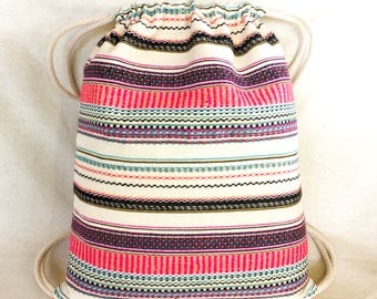 Adult Striped Poncho Backpack