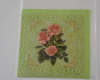 Card 3 Roses in 3 sizes