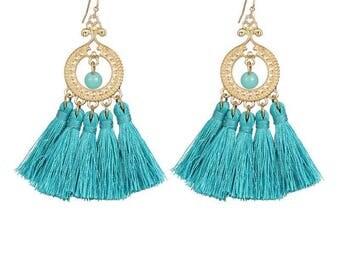 Earrings tassels and beads