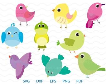 Sparrow Clipart , Cute Bird Svg ,  cricut, cameo, silhouette cut files commercial & personal use