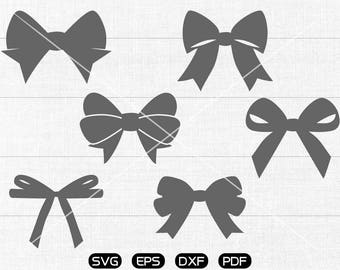 Bow SVG, Bow Clipart, cricut, silhouette cut files commercial use