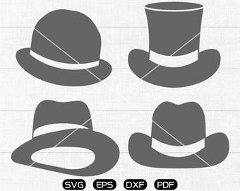 Hat SVG, Hat Clipart, cricut, silhouette cut files commercial use