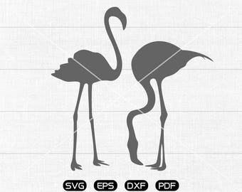 Flamingo SVG File, Lovers Flamingo Clipart, cricut, cameo, silhouette cut files commercial & personal use
