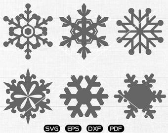 Snowflake svg Files, Snowflake Clipart, cricut, cameo, silhouette cut files commercial use