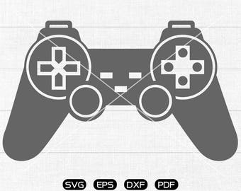 Video game Controller SVG, GamePad Clipart, cricut, silhouette cut files commercial use