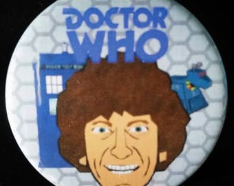 Doctor Who. Fourth Doctor. Custom 38mm Pin Badge.