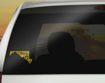Maryland Car Decal - Removable Vinyl Car Decals of Maryland State