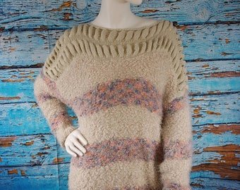 80s hand knitted jumper.
