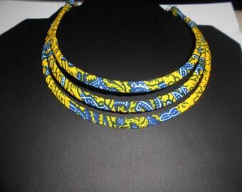 Wax (Ankara) bib necklace