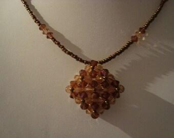 Brown diamond pendant necklace