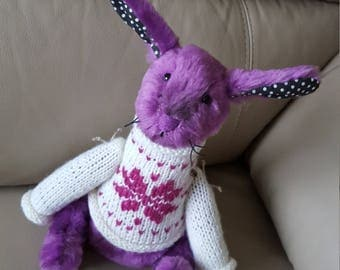 Rabbit Stuffed Animal & Plushies 100% Handmade 29 cm