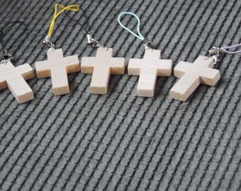 Wooden Cross Planner Charm