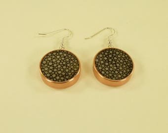Round Copper Shagreen