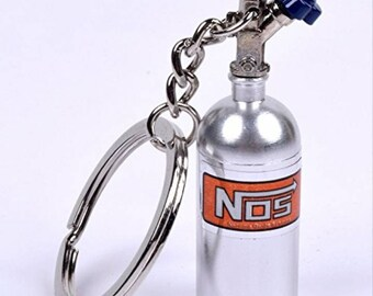 Silver Nitrous Bottle Keychain