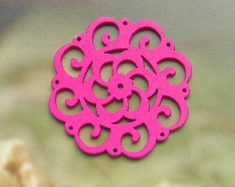 PENDANT CONNECTOR PINK WOODEN JEWELRY AND CREATIONS