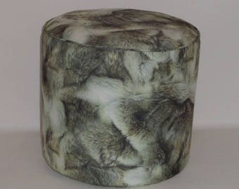 Ottoman fabric faux fur Wolf 2509
