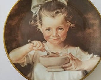 Cornflake Girl First Edition RoyalWood China 1977 J.C. Leyendecker, collectors plate, vintage plate,