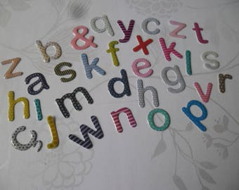 x 1 set of 26 letters/3D alphabet A to Z multicolored pattern craft 2 cm