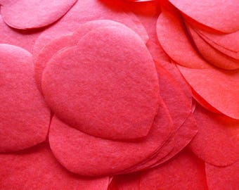 rose petals hearts red confetti tissue paper for decoration parties