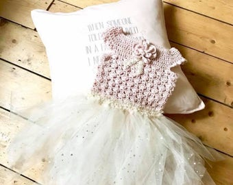 Beautiful girls tutu made to order from natural cotton and the finest bridal tulle. Most colours accomodated to suit every little princess.