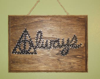 Harry Potter/Always/ Deathly Hallows String Art