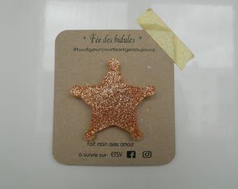 "Badge ""sheriff Star"" bronze glitter"