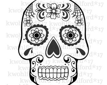 Sugar Skull SVG
