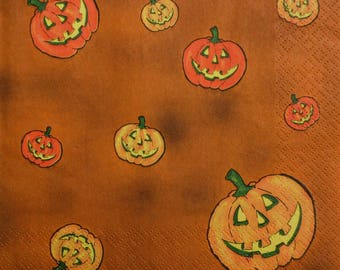 pumpkin halloween (370) napkin