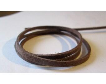 Two meters of brown suede - 3mm