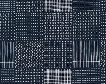 Blueberry Park Allotments in Navy Half Yard Cut - AWI 15751-9 - Karen Lewis - Robert Kaufman Fabrics
