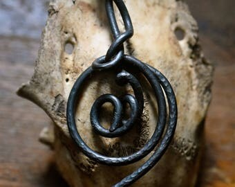 Viking inspired swirl pendant