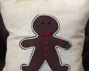 Gingerbread Man Pillow