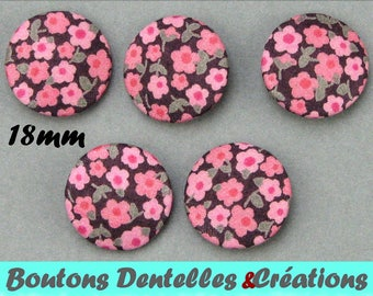Buttons covered with Liberty - Penny C - 18mm - (18-66)