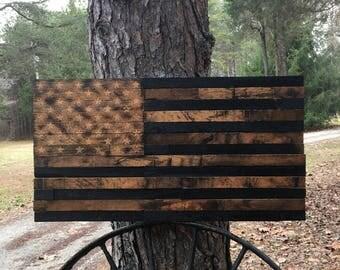 KY Bourbon Barrel Lid American Flag