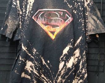 Superman DC Comics Distressed Bleached Tshirt
