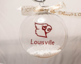 Louisville Cardinals floating ornament.