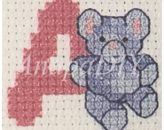 PDF Cross-Stitch Alphabet Animals