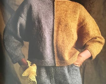 PDF Knit Split-Color Pullover (EASY)