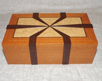Handmade wooden box, jewelry box, watch box, valet box