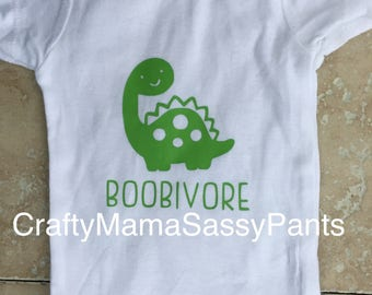 Cute Breastfeeding baby bodysuit.  Boobivore bodysuit for baby ~ Baby Gift ~ Baby Shower Gift ~