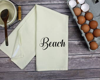 Kitchen Dish Towel - Tea Towel - Beach