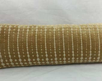 "11 x 35"" Retro Midcentury Modern Gold Chenille Lumbar Pillow Cover - Mid Century Modern Accent Pillow - Designer Throw Pillow - Reverse Cont"
