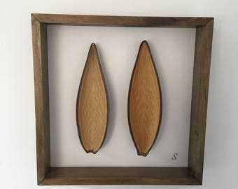 Natural wall hanging / box frame / picture / interior design