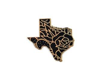 Gold Texas Pin