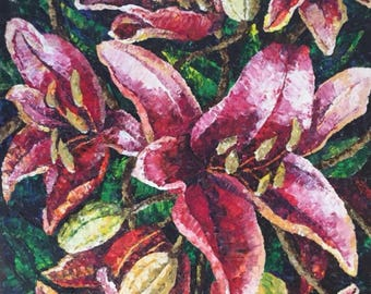 Red Lilies by Olga Magazanik