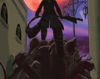 "Bloodborne ""Blood Moon"" Art Print"