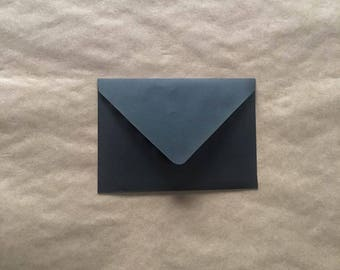Matte black envelope A6 10/PK
